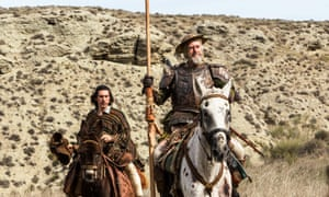 Adam Driver (left) and Jonathan Pryce in The man Who Killed Don Quixote (2018).