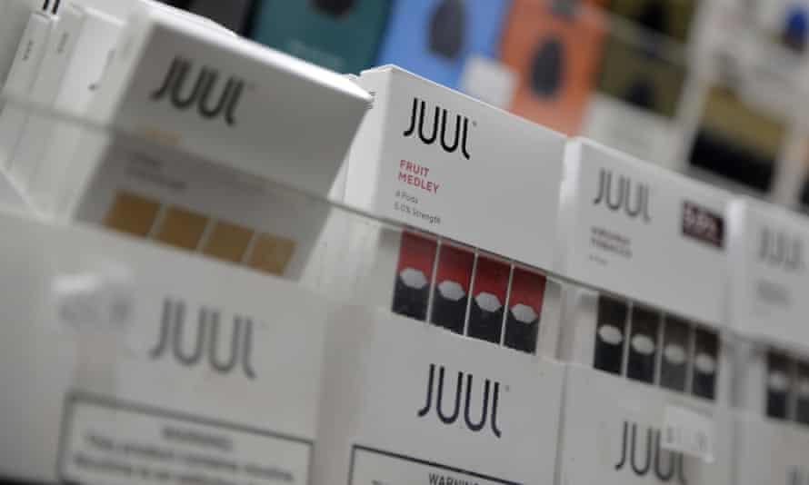 Juul e-cigarettes for sale in a store