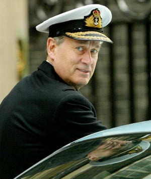 Chief of Defence Staff Admiral Sir Michael Boyce leaves Downing Street February 6, 2003.