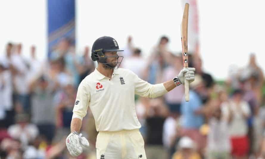 Ben Foakes celebrates his 50 as he led the England fightback against Sri Lanka on his debut.