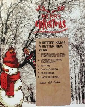 Happy holidays, from Ed Miliband