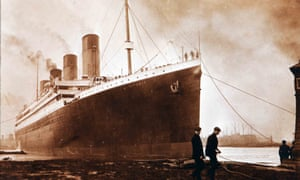 Image showing the launch and departure of the Titanic from Belfast in 1912.