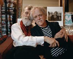 Jim Fouratt, an actor and 1960s radical, and his partner Joel, at their apartment in New York, New York.