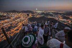 Hajj pilgrims visit Hiraa cave at Jabal al-Nour – 'the mountain of light' – during their pilgrimage.