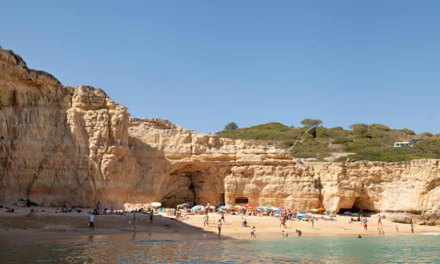 Praia da Carvalho in the Algarve, Portuga.