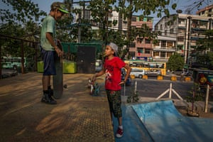 In 2012, authorities destroyed one of the few skateparks in Yangon. Skateboarders rode around the city instead, carrying mobile ramps and using whatever space was available. This became increasingly difficult as political and economic reforms led to an influx of people – and cars.