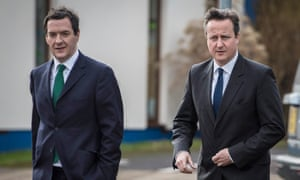 David Cameron (right) and George Osborne, seen here in 2016, were finishing the Thatcherite policy of shrinking the state.