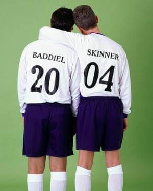 David Baddiel and Frank Skinner promoting their Fantasy Football: Euro 2004 TV show.