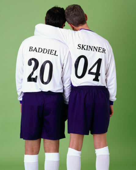 David Baddiel and Frank Skinner promoting their Fantasy Football: Euro 2004 TV show.