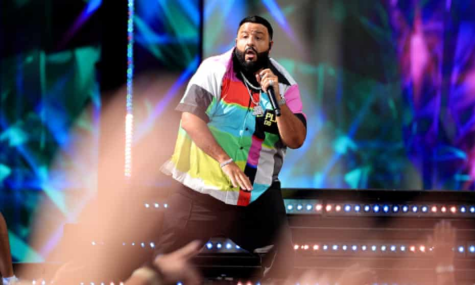 DJ Khaled performs onstage for the 2021 Billboard music awards.