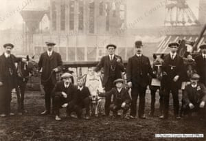 Pit ponies being prepared for a carnival at Horden colliery in County Durham in the 1920s. The mine closed in 1987.