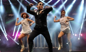 Psy performs his hit single Gangnam Style