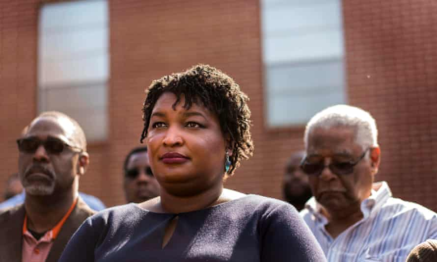 'Despite overseeing his own election, and failing to approve 53,000 voting applications, Kemp is barely ahead in his still-undecided race against Democratic candidate Stacey Abrams.'