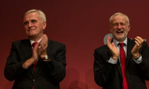 Labour leader Jeremy Corbyn and John MCDonnell at Labour's party conference.