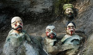 Severed & Impaled Heads, Chinese Torture & Punishment, in the Ten Courts of Hell, Tiger Balm Gardens, Singapore