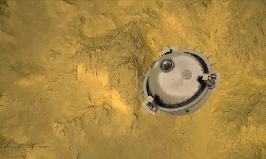 Davinci + NASA akan turun ke atmosfer.