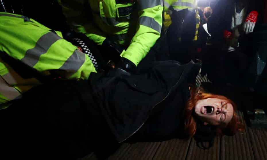 The inspectorate's report evaluates policing at the south London vigil on Saturday 13 March.