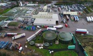 A drone image of 2 Sisters' Coupar Angus chicken processing plant.
