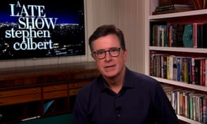 """Stephen Colbert on new CDC guidance to wear masks in public: """"Given the sudden reversal, this new guidance is a little confusing, but on Friday, the President used his daily briefing to make it even more confusing."""""""