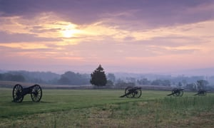 Antietam Battlefield at dawn, Maryland,