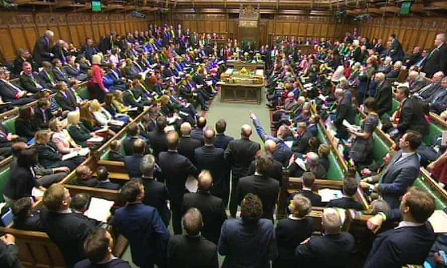 A packed House of Commons during prime minister's questions
