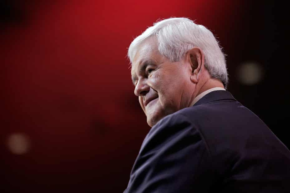 Newt Gingrich at the 41st annual Conservative Political Action Conference on 8 March 2014 in National Harbor, Maryland.
