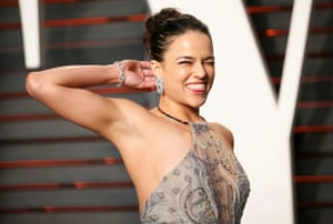 Actress Michelle Rodriguez arriving at the VF Party