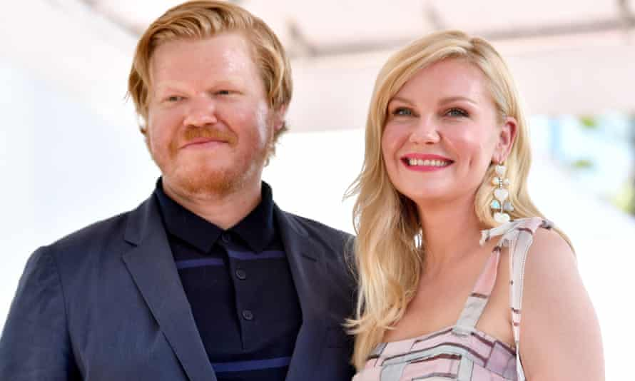 Jesse Plemons with his fiancee, Kirsten Dunst