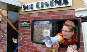 Sol Cinema is a tiny, converted solar-powered caravan