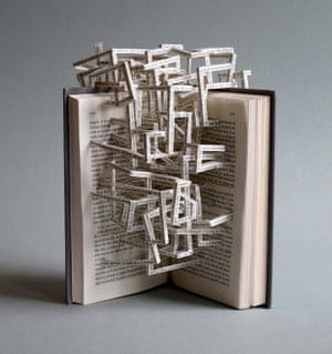 Notes From Underground book sculpture by Stephen Doyle.