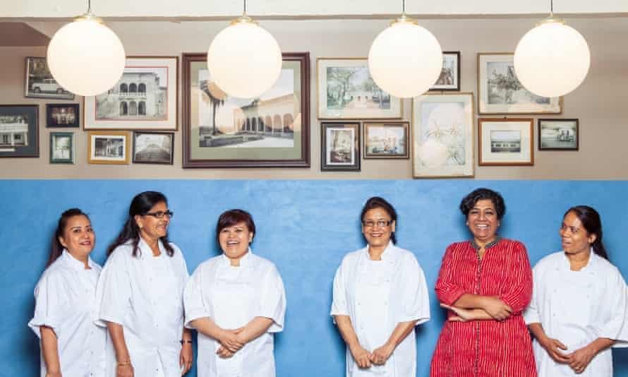 Asma Khan and her team at Darjeeling Express.