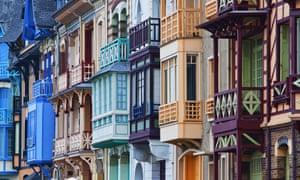 Art nouveau buildings in Mers-les-Bains.