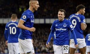 Richarlison (left) celebrates a goal with Bernard in January but SportPesa will not be sponsors next season.