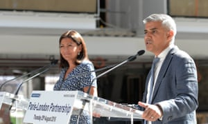 The London mayor Sadiq Khan with the Paris mayor Anne Hidalgo.