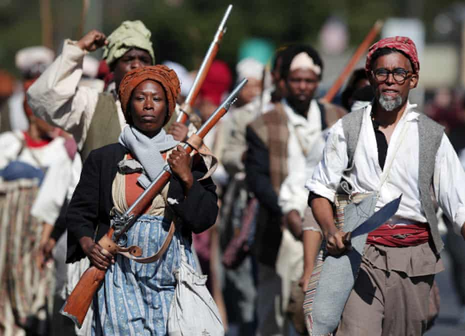 Re-enactors retrace the route of one of the largest slave rebellions in US history.