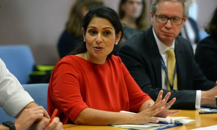 Priti Patel during a visit to the Port of Dover last month.