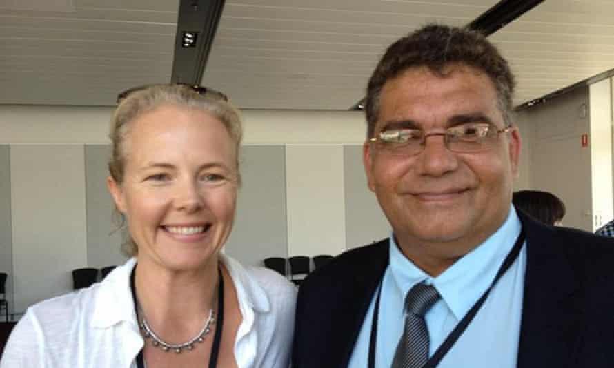 Just Reinvest NSW chair Sarah Hopkins and Maranguka executive director Alistair Ferguson.