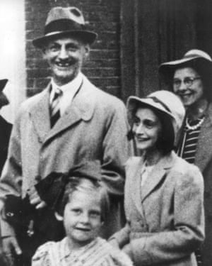 Anne Frank, right, and her father, Otto Frank