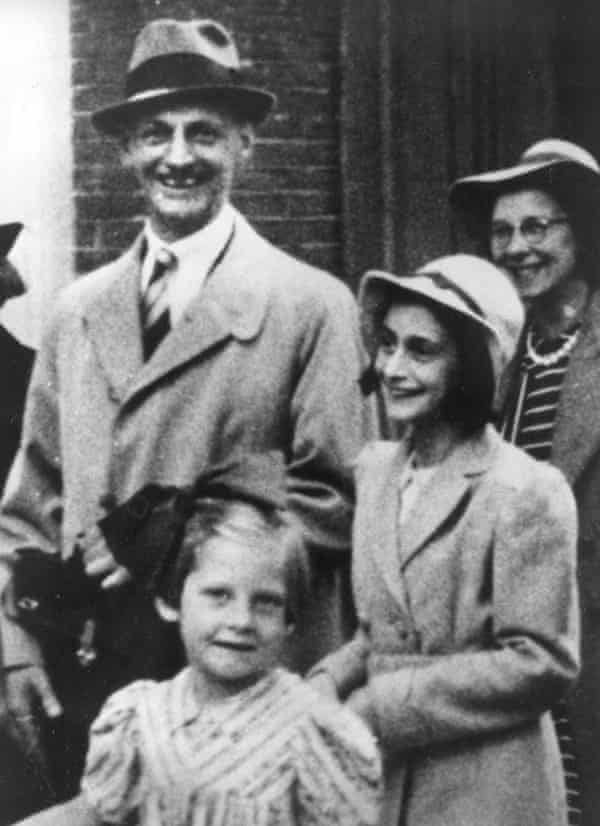 Otto Frank in July 1941 with his daughter Anne, right, and friends in Amsterdam.