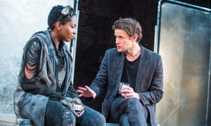 'I was channelling an element of myself' … Tamara Lawrance with Matt Smith in Unreachable at the Royal Court in 2016.