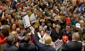 A Trump rally in Reno, Nevada. Can he translate such scenes into results at the caucuses without much of a campaign presence? The state's Republican officials are doubtful.