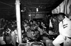 Crowd at Dingwalls gets bum-rushed from the door before Ultramagnetic MC's hit the stage London 1989