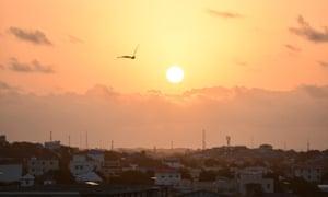 Dawn in the Somali capital Mogadishu.