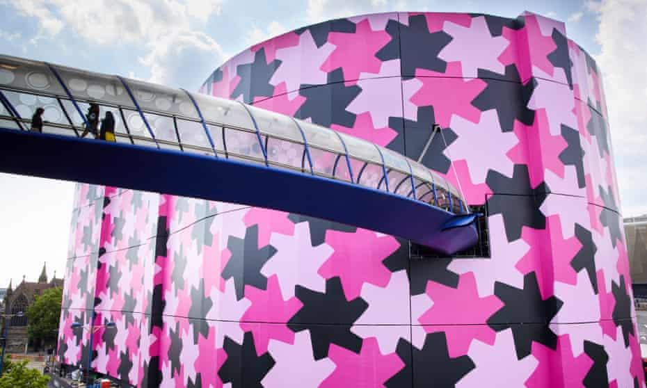 Startling, cheering, unmissable … Infinity Pattern 1 covering Selfridges Birmingham.