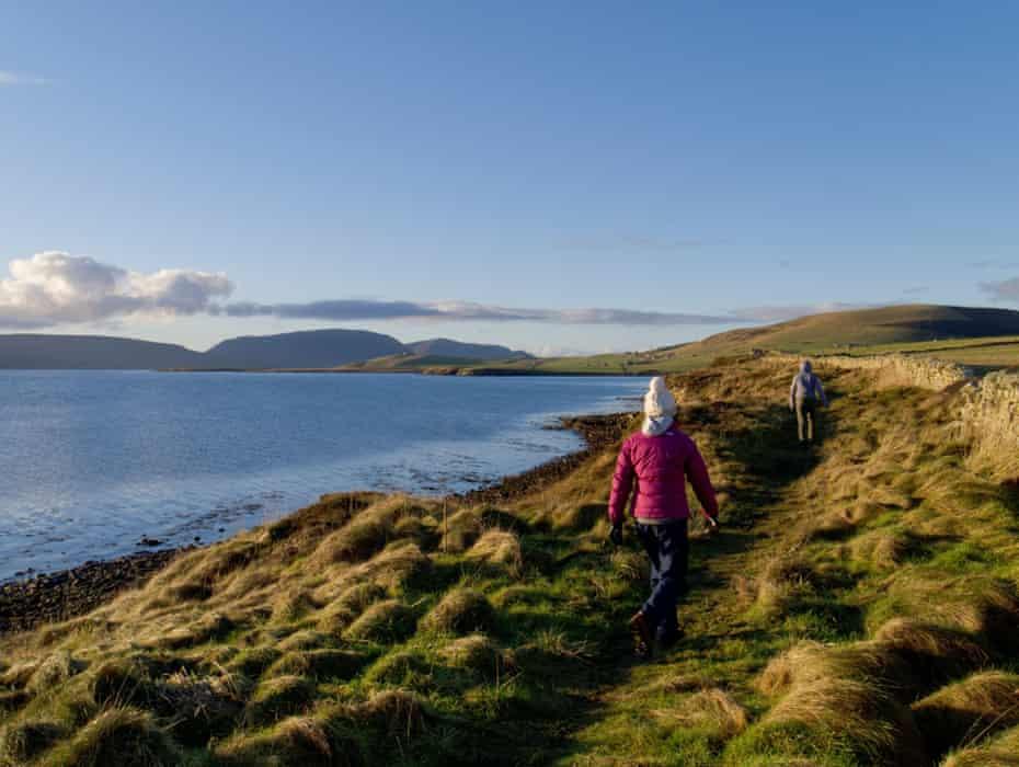 Walking on St Magnus Way, Orkney Isles