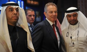 Tony Blair at the Global Competitiveness Forum in Riyadh in 2011.