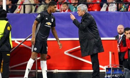 Marcus Rashford S Progress Praised By Manchester United S Jose Mourinho Manchester United The Guardian