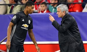 José Mourinho says Marcus Rashford has made so many substitute appearances 'because I decide that way'.