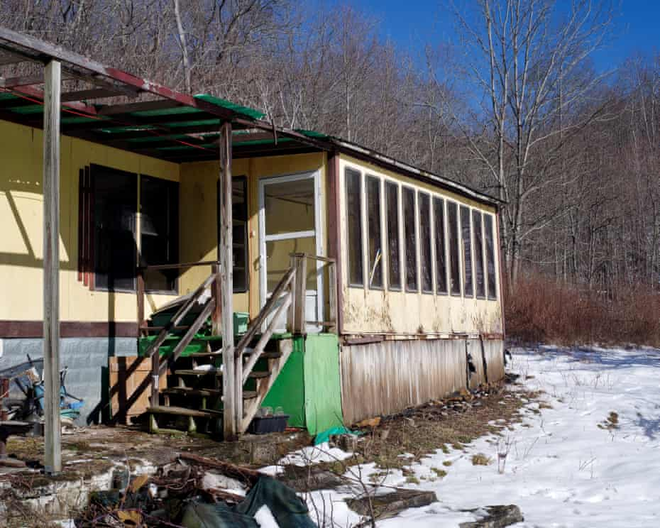 The trailer where William Luther Pierce once lived lies in disrepair at the National Alliance compound.