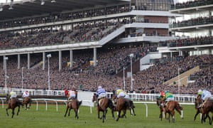 Packed crowds watch last month's Cheltenham Gold Cup, which went ahead despite coronavirus concerns.